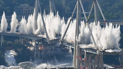 Genoa bridge demolished