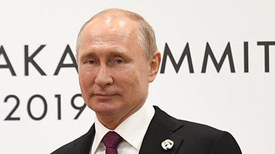 Vladimir Putin at the Osaka Summit 2019 in Japan