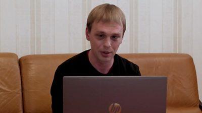 Anti-corruption journalist Ivan Golunov speaks to BBC Russian