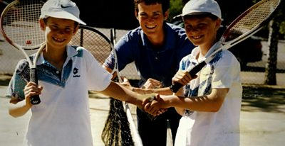 Andy and Jamie Murray with their mum Judy