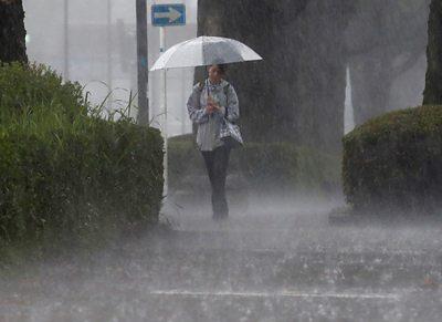 Heavy rain in southwestern Japan
