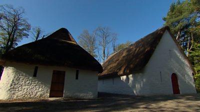 Re-erected ancient buildings form part of St Fagans