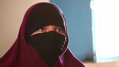 Lisa Smith in a Syria refugee camp