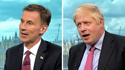 Tory leadership: Hunt and Johnson interviewed by Neil