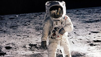Astronaut Neil Armstrong on the Moon in 1969