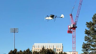 A hybrid drone which can hover and glide