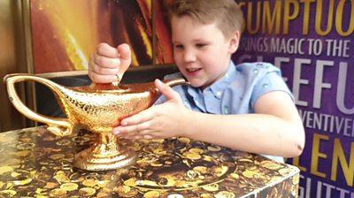Charlie with an Aladdin lamp