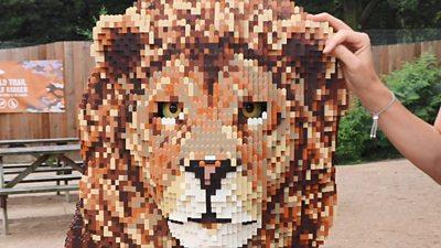 lego lion statue