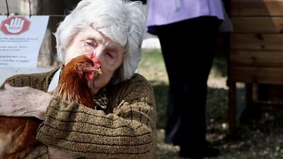 Irene Fleming and chicken