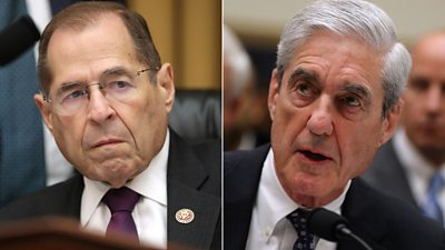 Robert Mueller tells a Democratic congressman he spent a year trying to talk to Mr Trump in person.