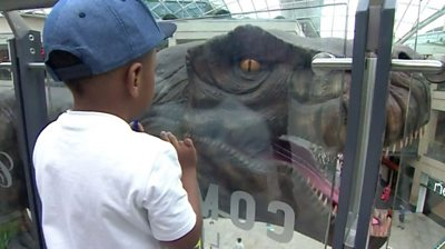 The animatronic Tyrannosaurus Rex, Triceratops and others should give Leeds' shoppers a surprise.