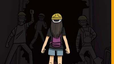 Animation of a girl protester
