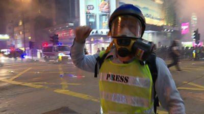 'Another street battle in Hong Kong'