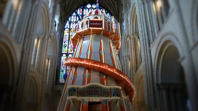 Helter-skelter in Norwich Cathedral