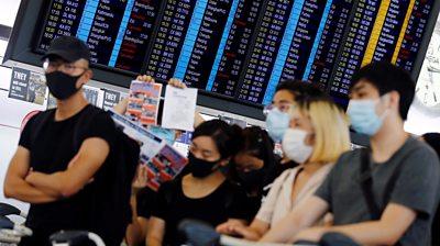 protesters at Hong Kong airport