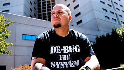 Ramon Vasquez wearing a De-Bug T-Shirt