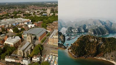 Norwich and Halong Bay, in Vietnam