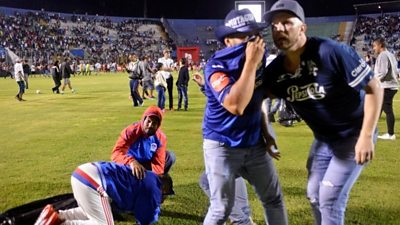 Three dead after fans of rival Honduran football clubs Motagua and Olimpia clash