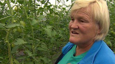 A woman who developed depression after losing her son says growing plants helps her mental health.