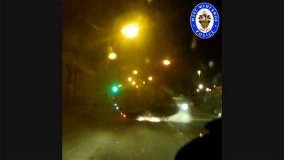 Dashcam video showing the car crash