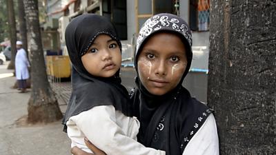 Muslim woman in Yangon