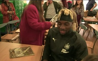 Saint-Maximin is keen to become part of the local community in Newcastle upon Tyne.