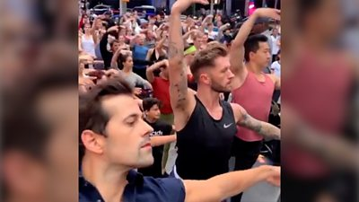 A US TV host mocked the idea of a boy doing ballet, and provoked the most graceful protest ever.