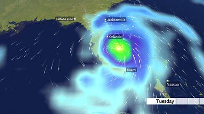 Graphics show Hurricane Dorian's path