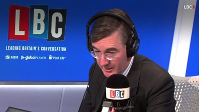 House of Commons Leader Jacob Rees-Mogg on LBC