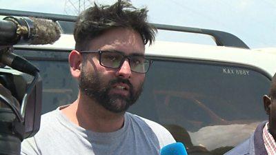 Flood survivor Ivraj Singh speaks with media