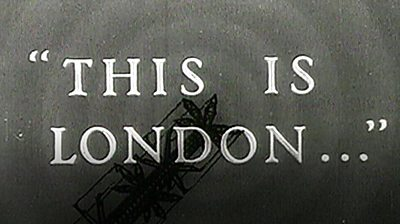 This is London graphic from a newsreel
