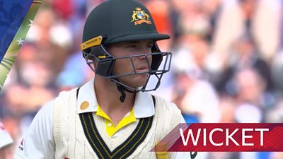 Australia lose second early wicket as Broad removes Harris