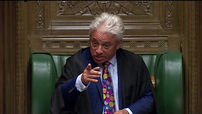 Commons Speaker John Bercow makes his views clear as Parliament is prorogued until the middle of October.