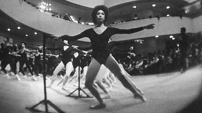 The Dance Theatre of Harlem's first performance at the Guggenheim museum in New York