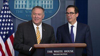 Mike Pompeo and Treasury Secretary Steven Mnuchin