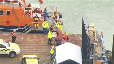 Migrants brought ashore in Ramsgate