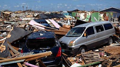 Bahamas wreckage