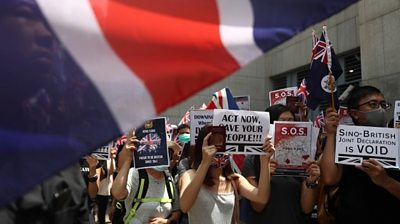 protesters at UK consulate