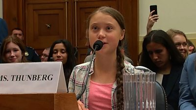 Activist Greta Thunberg spars with US lawmaker on climate change at a Congressional hearing.
