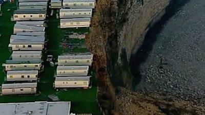 Caravans on the cliff edge