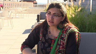 Gulalai Ismail speaks to AFP