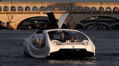 SeaBubbles water taxi on the River Seine