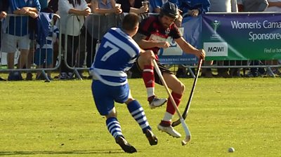 What constitues a yellow card in shinty?