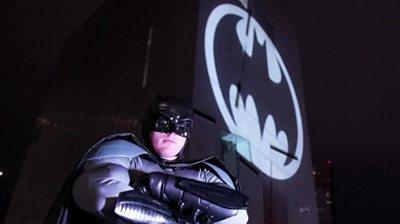 Person in Batman costume