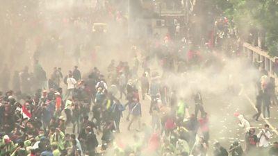 Clashes erupt in Jakarta