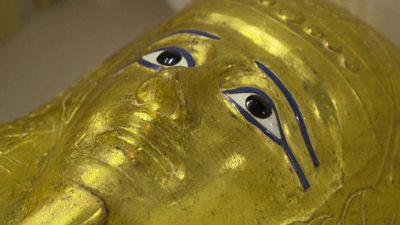 Ancient Egyptian coffin on show