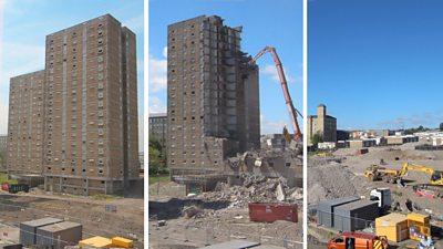 Demolition of Beech Hill flats