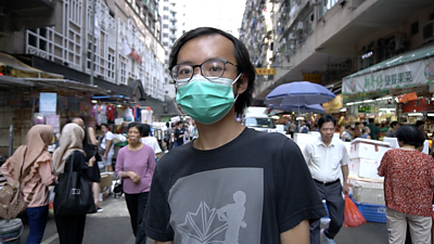 A Hong Kong protester from a pro-Beijing has complicated feelings about China.