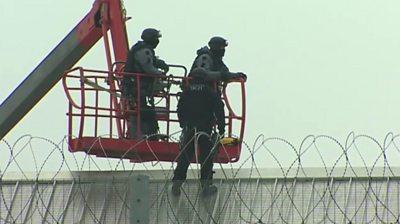 Prisoner on the roof at HMP Berwyn