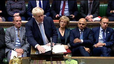 Boris Johnson at the despatch box